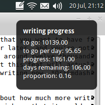 My Wordcount Notification